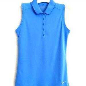 Nike Victory Sleeveless Polo University Blue/White